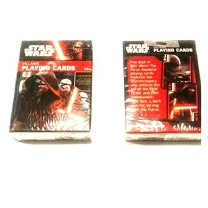 Star wars villains playing cards
